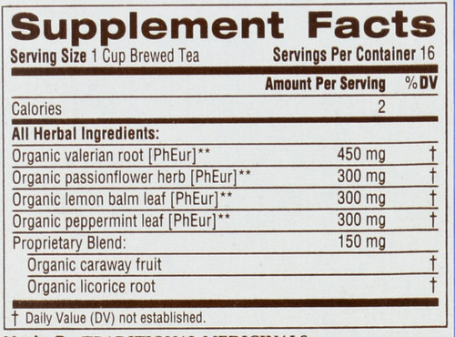 Bagged Tea Nighty Night® Valerian Herbal Supplement 16 Tea Bag 0.85oz