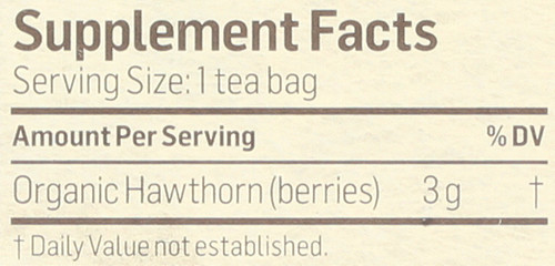 Tea Hawthorn Berry Herbal Supplement 24 Tea Bag 2.54 Ounce