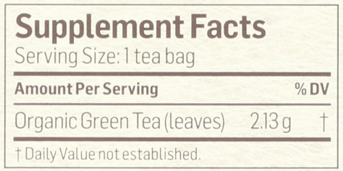 Tea Green Herbal Supplement 24 Tea Bag 1.8 Ounce