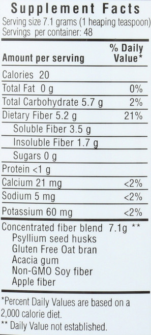 Daily Fiber Formula Dietary Supplement 12 Ounce 340 Gram