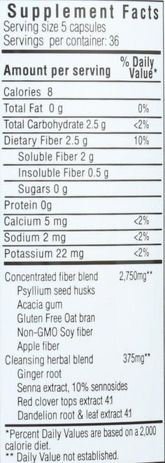 Fiber Plus Caps Dietary Supplement 180 Capsules
