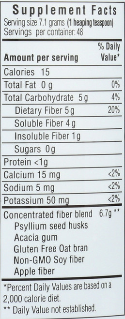 Daily Fiber Formula Orange Flavor Dietary Supplement 12 Ounce 340 Gram
