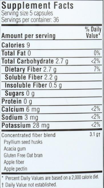 Soluble Fiber Caps Dietary Supplement 180 Capsules
