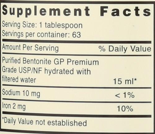 Great Plains® Bentonite Detox Dietary Supplement 32 Fluid Ounce 946 Ml