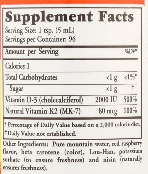 Liquid Nutrients D3 With K2 Whole Food Complex 16 Fl oz 473 Ml
