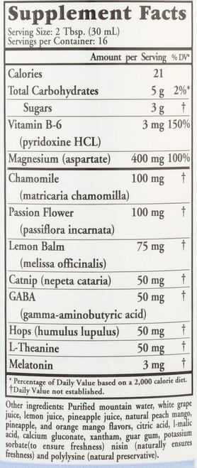 Liquid Nutrients Sleep Complete Promotes Deep Sleep Dietary Supplement Whole Food Complex Vegetarian, Gluten Free 16 Fl oz 473 Ml