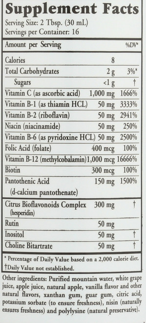 Vit B Complete Liquid High Potency 16 Fl oz 473 Ml