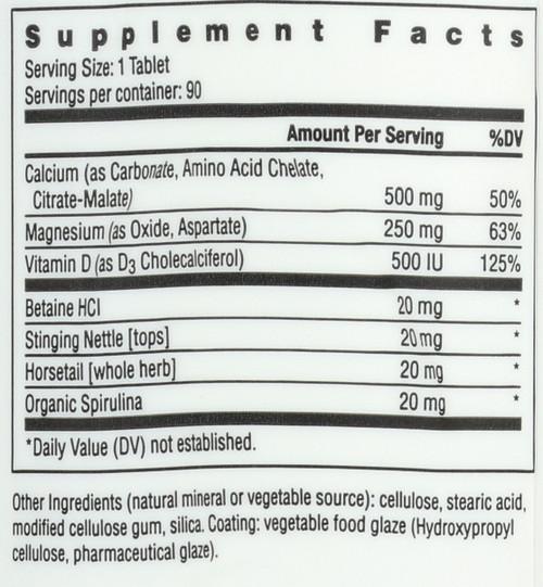 Food Based Calcium™ With Magnesium & Vitamin D3 Dietary Supplement 90 Tablets