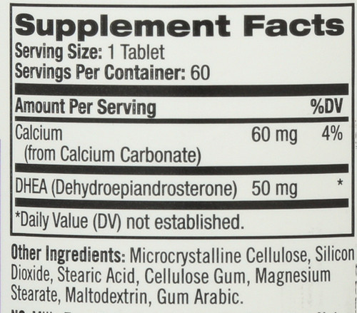 Vitamin/Supplements Dhea 50Mg  60 Tablets