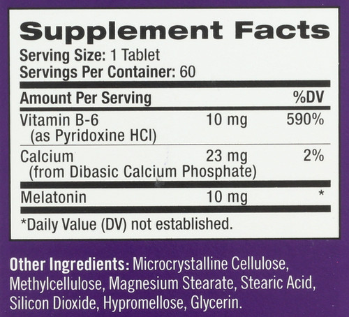Vitamin/Supplements Advanced Sleep Melatonin 10Mg Tr Time Release 60 Tablets