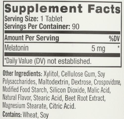 Vitamin/Supplements Melatonin 5Mg Fast Dissolve 90 Tablets
