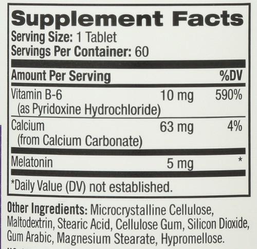 Vitamin/Supplements Melatonin 5Mg  60 Tablets