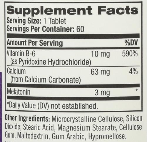 Vitamin/Supplements Melatonin 3Mg Time Release 60 Tablets