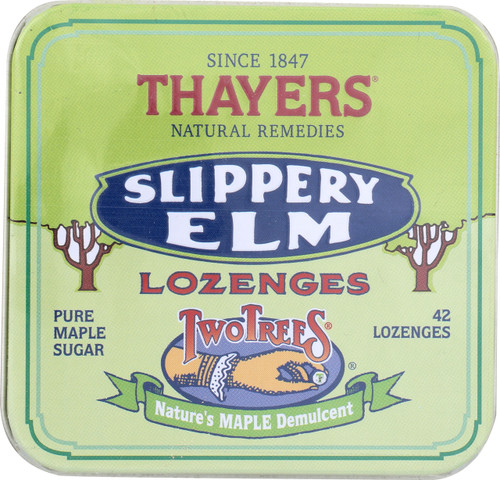 Twotrees Slippery Elm Lozenges  Pure Maple Sugar