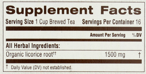 Bagged Tea Licorice Root 16 Tea Bag 0.85oz