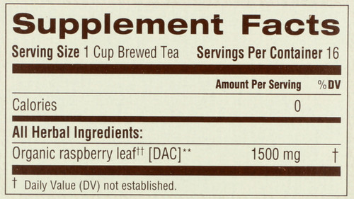 Bagged Tea Raspberry Leaf Organic 16 Tea Bag 0.85oz