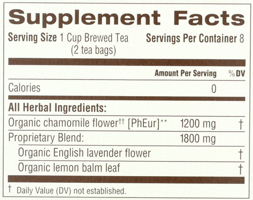 Herbal Tea Chamomile With Lavender Organic 16 Tea Bag 0.85oz