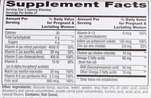 Vitamins Prenatal Gummy Vitamins 75 Gummies