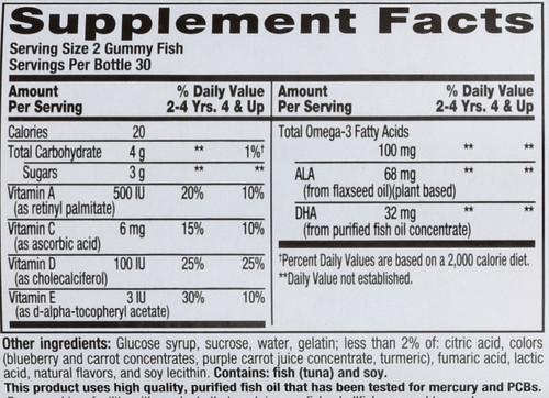 Vitamins Omega 3 Dha 60 Gummies
