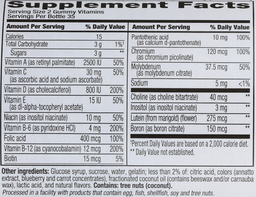 Vitamins Adult Multivitamins Gummy Vitamins 70 Gummies