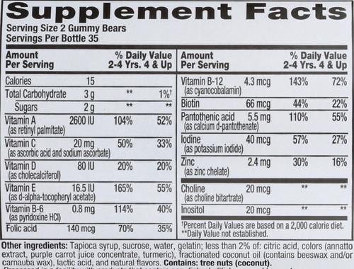 Vitamins Multi Vitamin Children's 70 Gummies