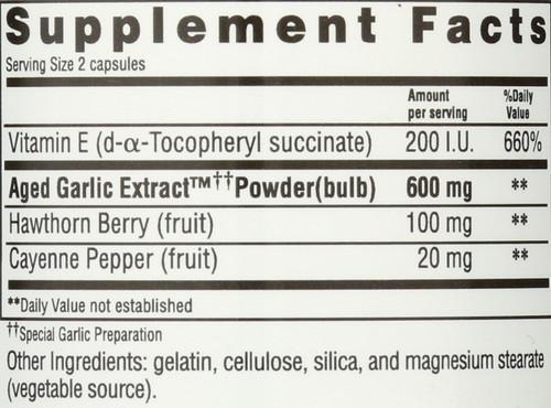 Kyolic Formula 106 Circulation Herbs, Vit E Formula 106 100 Capsules
