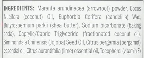 Deodorant Stick Bergamot + Lime 3.25oz 92 G