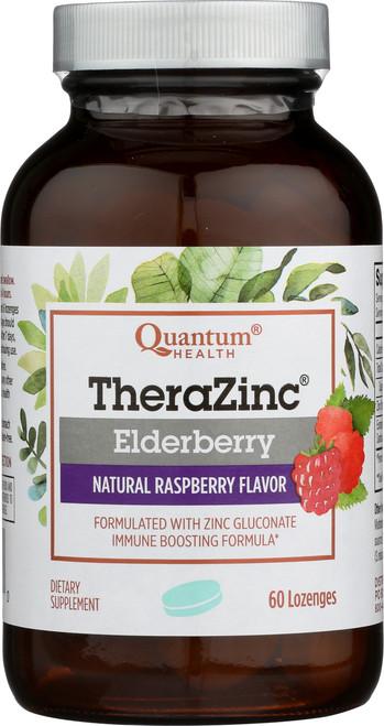 Thera Zinc Elderberry Lozenges Natural Raspberry Flavor