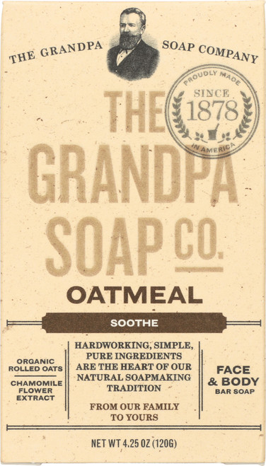 Face & Body Bar Soap Oatmeal