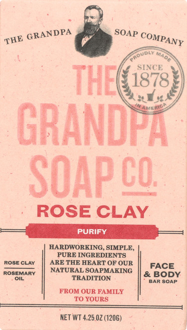 Face & Body Bar Soap Rose Clay