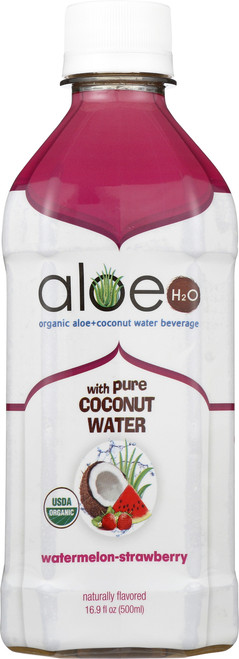Aloe H2O With Coconut Water Strawberry Watermelon
