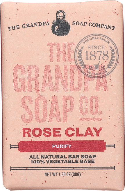 Soap Bar Rose Clay