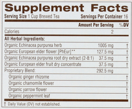 Bagged Tea Echinacea Plus® Elderberry 16 Tea Bag 0.85oz
