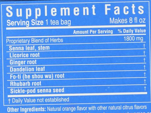 Tea Herbal Laxative 20 Tea Bags 1.27oz