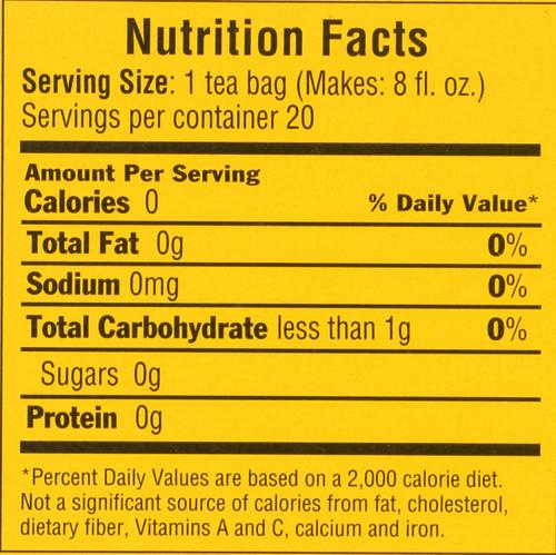 Herbal Tea Lemon Ginger Soothing & Uplifting 20 Tea Bags 1.41oz