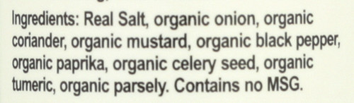 Organic Seasonings Season Salt Organic 4.75oz 135 G