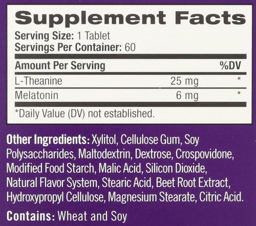 Vitamin/Supplements Advanced Melatonin Calm Sleep  Fast Dissolve 60 Tablets