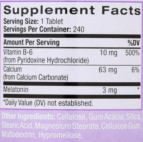 Melatonin 3Mg 240 Tablets