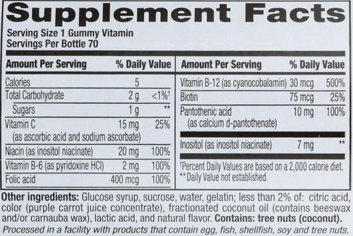 Gummy Vitamins B Complex Strawberry 70 Each