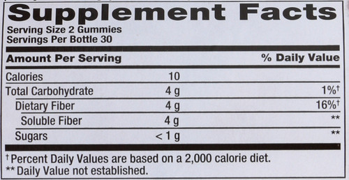 Fiber Gummies Fiber 4 Grams Of Soluble Fiber 60 Gummies