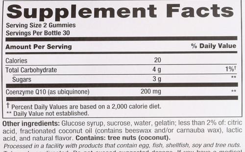 Coq10 200Mg Gummy Supplement 60 Gummies
