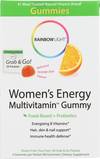 Multivitamin Women'S Energy Gummies Delicious Orange Zest Flavor!