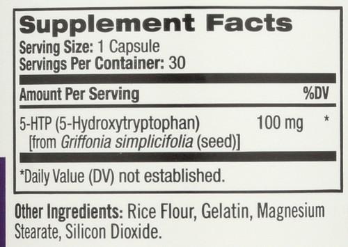 5-Htp 100 Mg Mood & Stress 30 Capsules