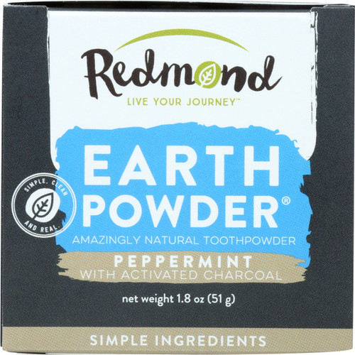 Earthpowder Toothpowder Peppermint With Charcoal