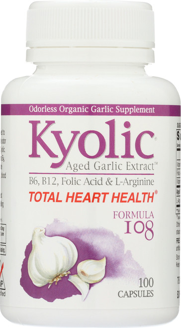 Kyolic Formula 108  Total Heart Health B6, B12, Folic Acid