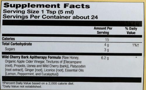 Syrup-Wild Cherry Bark  4 Fl oz 120 Ml