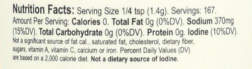 Organic Seasonings Garlic Salt 8.25oz 234 G