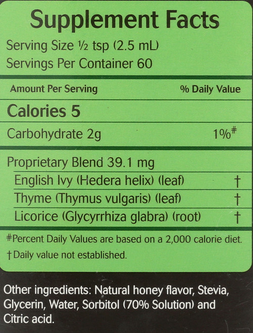 Cough Syrup With Thyme  5 Fl oz 150 Ml