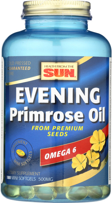 Evening Primrose Oil Minis, Cold Pressed 180 Mini Softgels 500mg