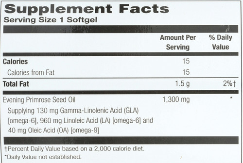 Evening Primrose Oil, Once Daily, Cold Pressed 60 Softgels 1300mg